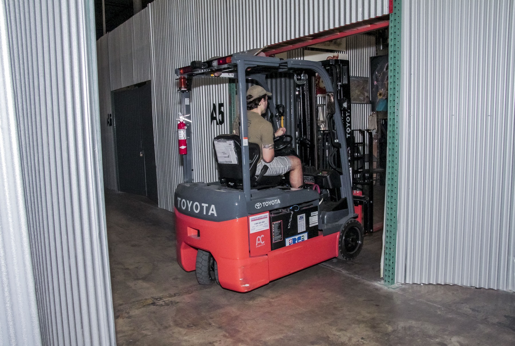 springfield warehouse with forklift